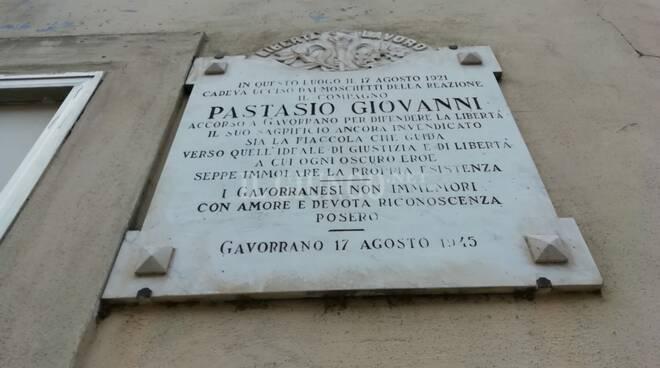 targa Giovanni Pastasio