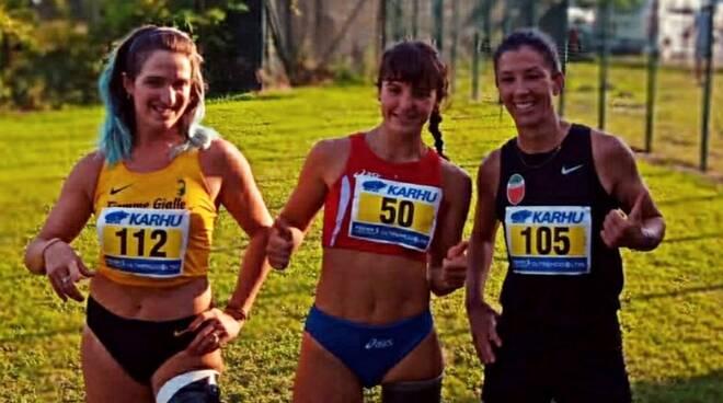 Ambra Sabatini con Martina Caironi e Monica Contraffatto