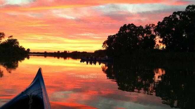 tramonto sul fiume - foto del giorno valentina marchini