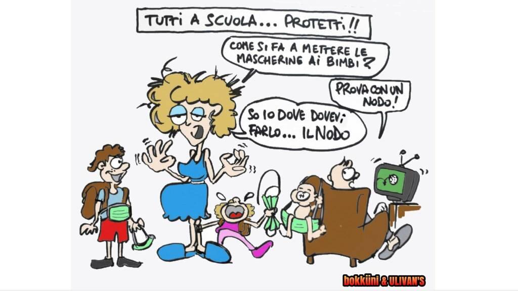 Vignetta riapertura scuola