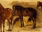 Pietro Aldi - Studio di cavalli