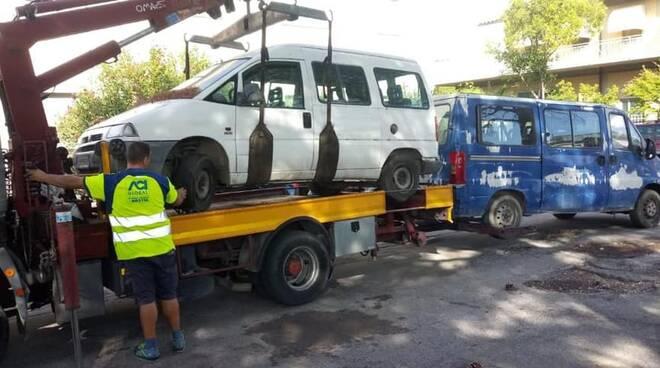 rimozione auto abbandonate