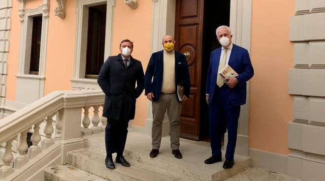 Leonardo Marras, Andrea Biondi e Eugenio Giani