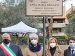 cerimonia di intitolazione del Parco Anna Maria Briganti