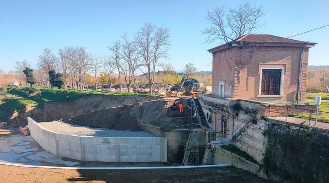 lavori tra Steccaia e San Martino