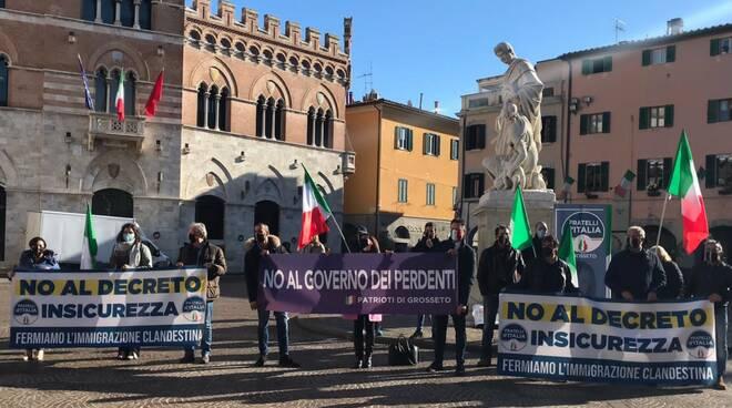 manifestazione FdI contro modifica Decreti sicurezza - 3 dicembre 2020