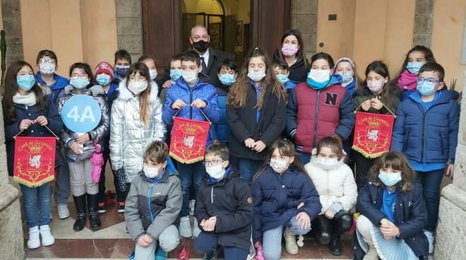 classe 4^A di via Giotto