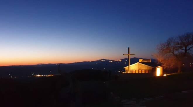 Foto del giorno - monastero di Siloe al crepuscolo
