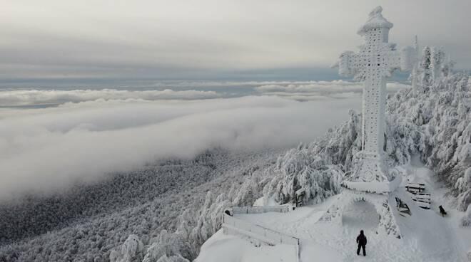 neve amiata drone 9 gennaio 2021