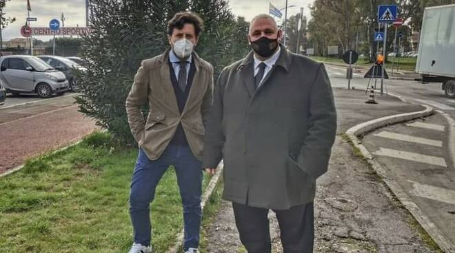 Antonfrancesco Vivarelli Colonna e Riccardo Megale lavori via lago di varano