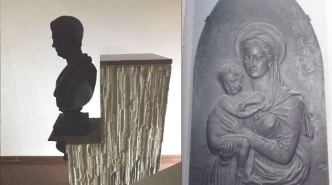 Busto leopoldo e madonna ghisa