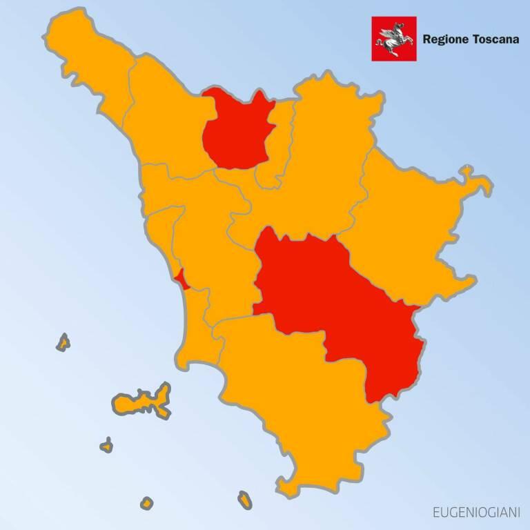 Cartina Toscana Provincia Di Siena.Toscana In Zona Arancione Anche La Prossima Settimana Siena E Pistoia In Zona Rossa Ilgiunco Net