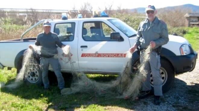 tramaglio pesca polizia provinciale