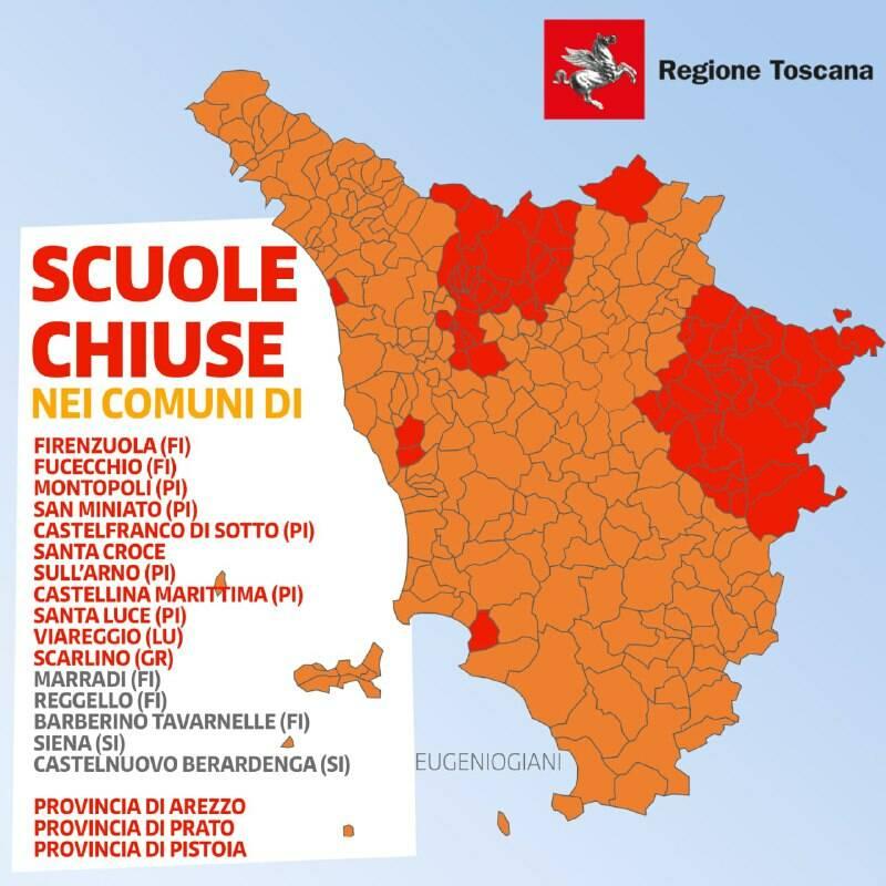 Cartina Toscana Dettagliata Da Stampare.Mappa Toscana Dettagliata