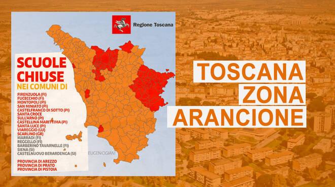 Cartina Toscana Provincia Di Siena.Zone Rosse E Scuole Chiuse In Toscana Ecco La Mappa Con L Elenco Completo Ilgiunco Net