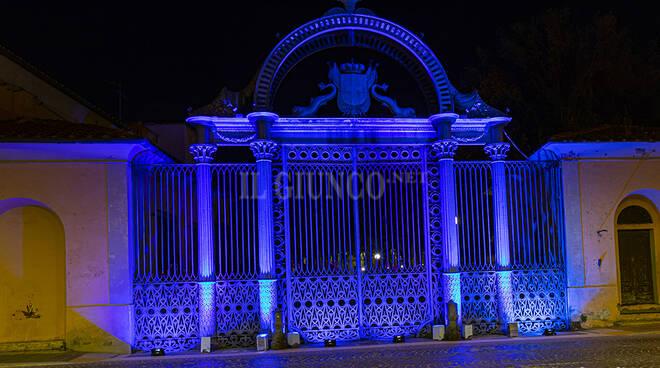 cancellone Ilva blu autismo