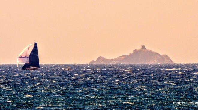 tramonto sul golfo