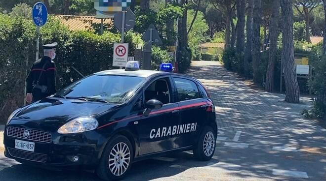 carabinieri campeggi Albinia