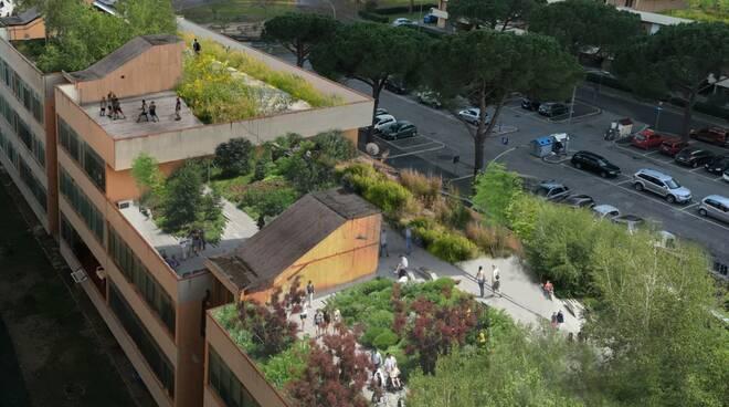 Elaborazione verde in città fatta da Francesca Amore