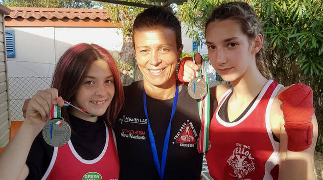 Fight Gym - Sofia e Giulia Massone con Pantani