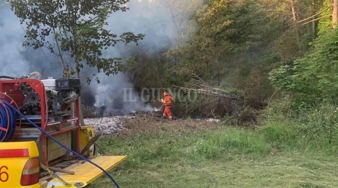 Incendio bosco Vab