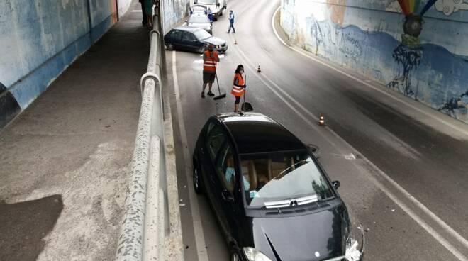 Incidente sottopasso via Massetana