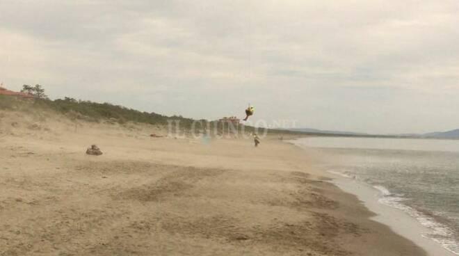 malore in spiaggia