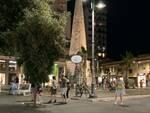 Follonica notte piazza Sivieri