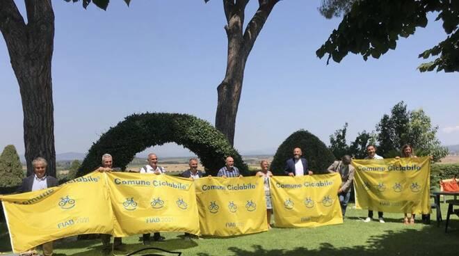 Bandiera gialla comuni ciclabili