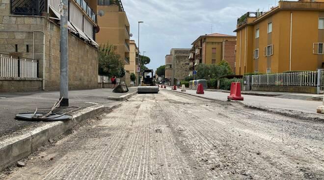 lavori strada asfalto Grosseto