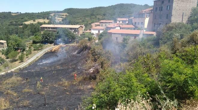 Incendio Roccatederighi Luglio 2021