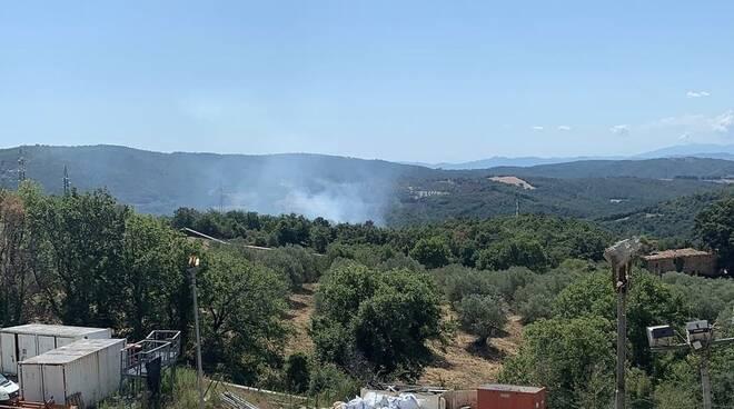 Incendio Monterotondo 30 agosto 2021
