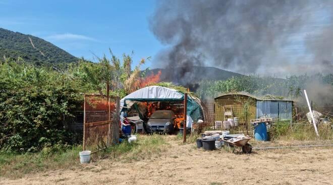 incendio Castiglione 9 agosto 2021