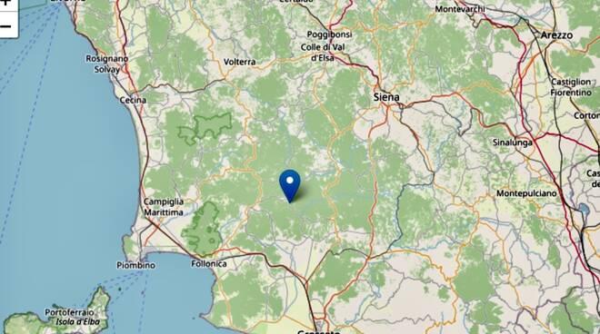 terremoto Montieri 18 settembre 2021