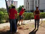 Potere al popolo pulisce parco