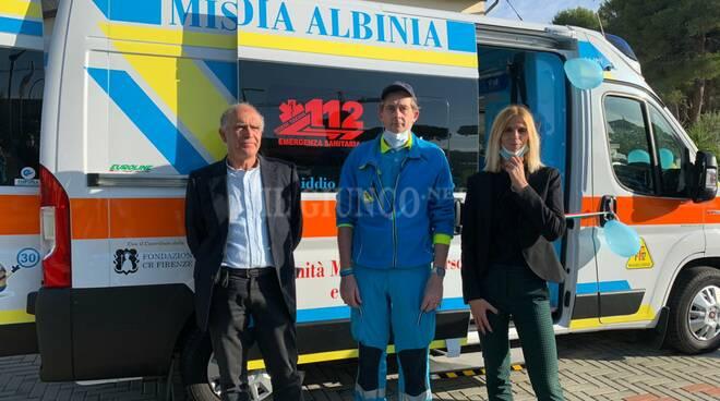 Ambulanza pediatrica misericordia albinia