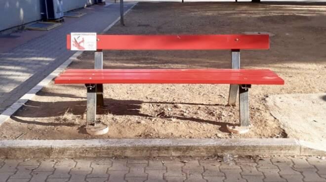 panchina rossa Piombino
