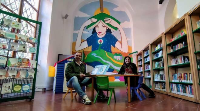 Benini Catalani biblioteca murales