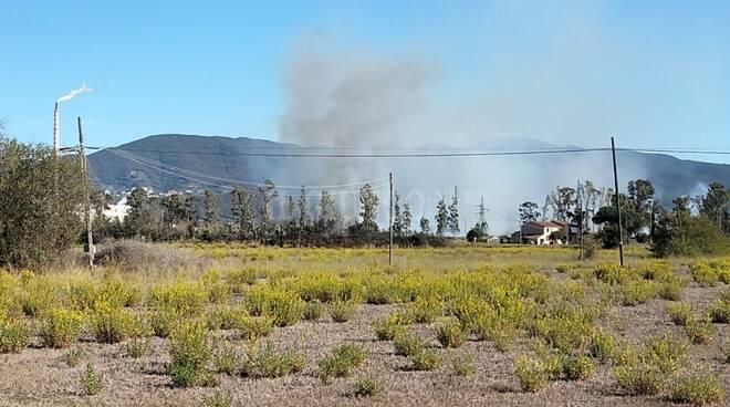 incendio Follonica 15 ottobre 2021