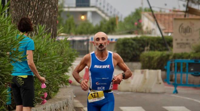 Marco Carotti all'Elbaman 2021